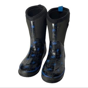 Cougar Storm waterproof easy-on/off Spider Print Winter Boots Youth 1